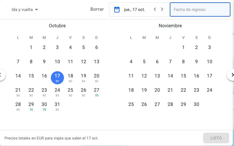 buscador vuelos google