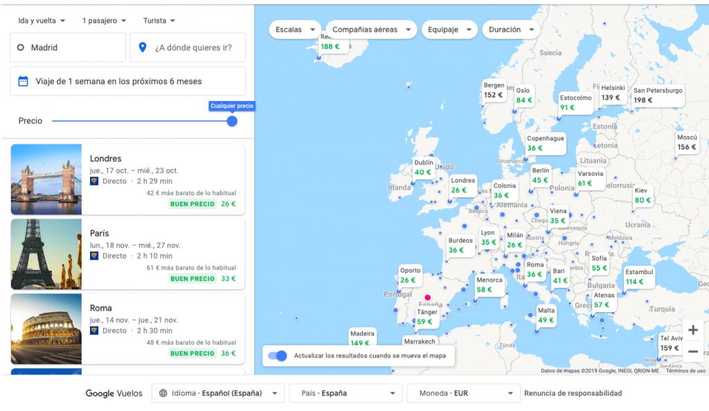 vuelo google