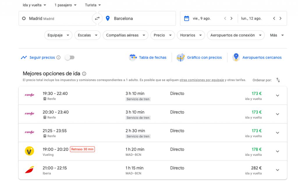 vuelos baratos google