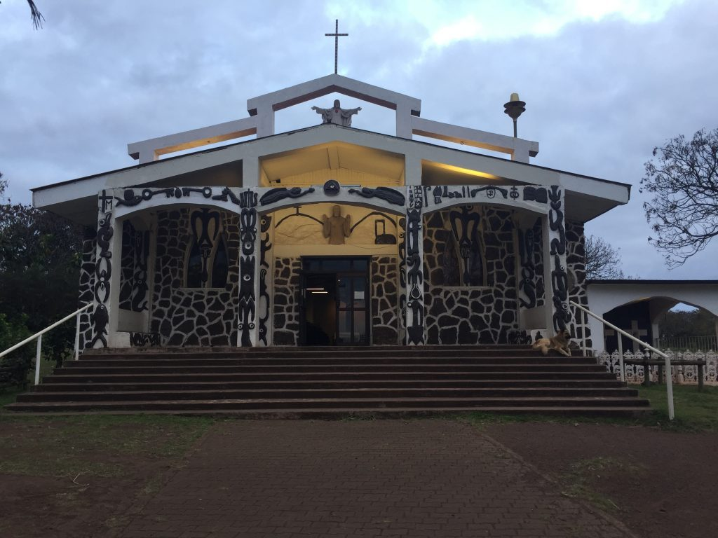 hanga roa iglesia de santa cruz