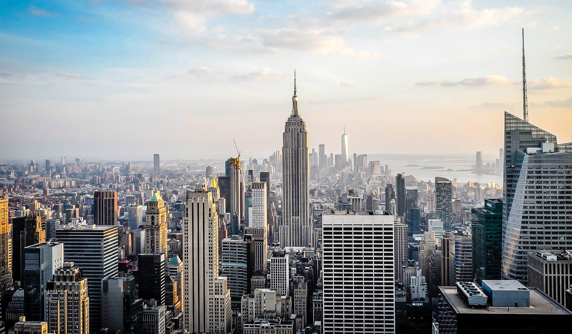 skyline nueva york rascacielos