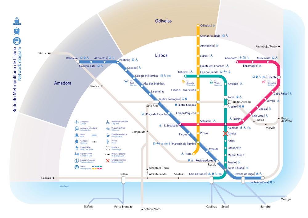 el metro de lisboa portugal